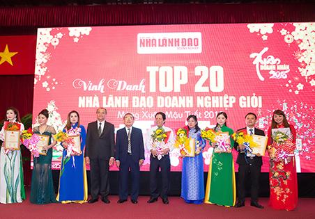 Đón nhận danh hiệu Top 20 Doanh nghiệp có chất lượng dịch vụ tốt nhất khu vực phía Nam và Top Doanh Nhân Xuất sắc năm 2017